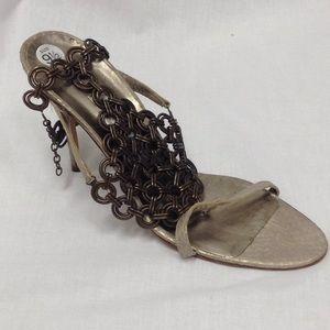 Manolo Blahnik Ankle Chain Heel